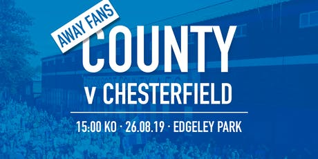#StockportCounty vs Chesterfield F.C. - AWAY FANS tickets
