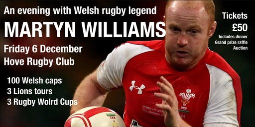 An evening with Martyn Williams, Welsh rugby legend