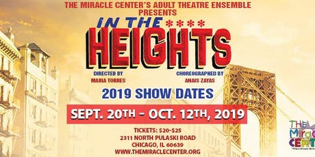 In The Heights- TMC's Adult Theatre Ensemble Production tickets