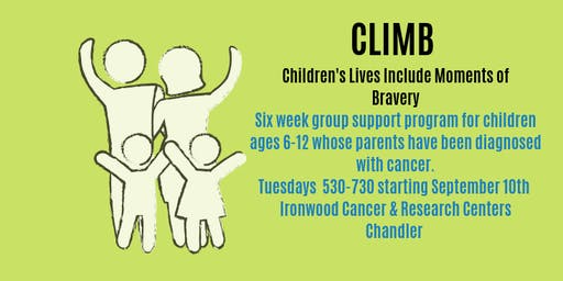 CLIMB Support Group for Children whose parents have been diagnosed with cancer