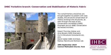 IHBC Yorkshire branch: Conservation and Stabilisation of Historic Fabric tickets