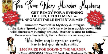 The Time Warp Murder Mystery Dinner Party tickets