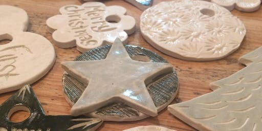 Porcelain Ornaments Workshop: December 7th 1pm-2:30pm