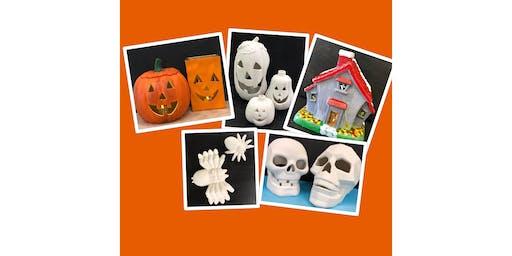 "Adult Paint & Go Ceramics (18yrs+) ""Fall Designs"""