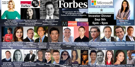 Dinner: Microsoft for Startups +  AI Venture Amalgamators with Forbes MD tickets
