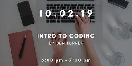Workshop Wednesdays: Intro to Coding tickets