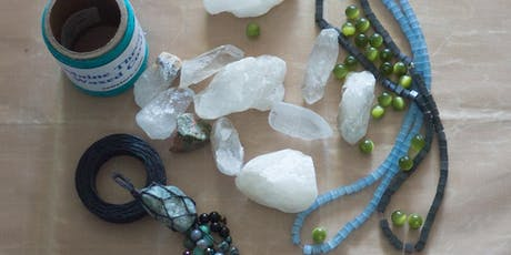 Macrame Wrapped Crystal Workshop tickets
