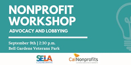 Nonprofit Workshop on Advocacy and Lobbying tickets