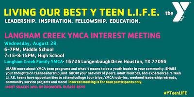 Langham Creek YMCA Y Teen L.I.F.E.