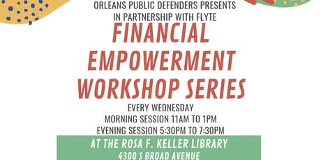 Financial Empowerment Workshop: Bank Accounts tickets
