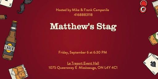 Matthew's Stag!