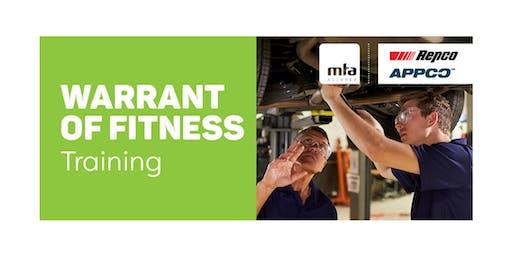 MTA WoF New Inspector Course — Matamata