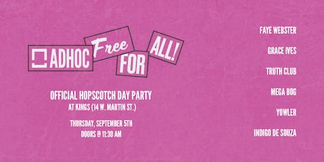 Free For All at Hopscotch Music Festival tickets
