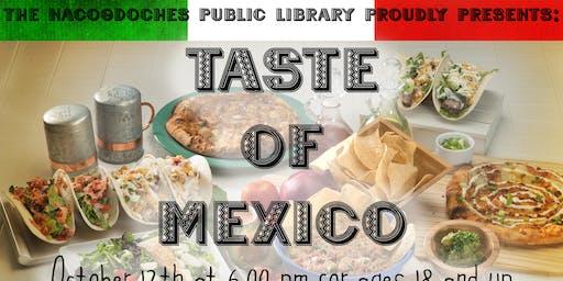 Taste of México  (NEA Big Read Nacogdoches)