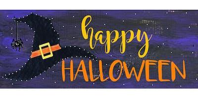 Halloween String Art -  Paint Create and Sip Party Art Maker Class