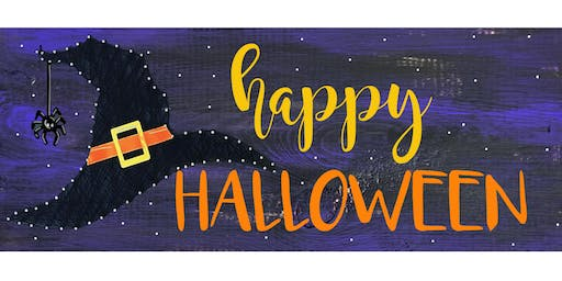 Halloween String Art -  Paint Create and Sip Party Art Maker Class
