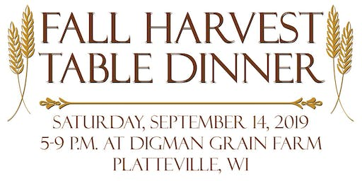 Platteville's 4th Annual Fall Harvest Table Dinner