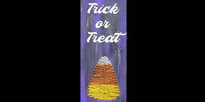 ***** or Treat String Art -  Paint Create and Sip Party Art Maker Class