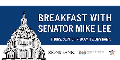 Breakfast with Senator Mike Lee tickets