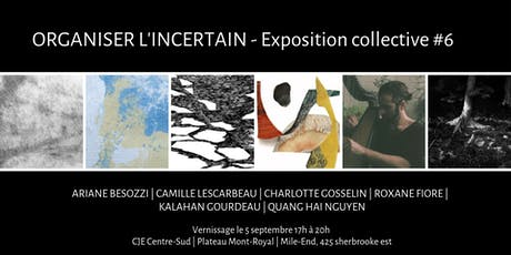 Organiser l'incertain - Exposition collective #6 tickets