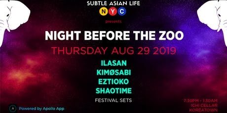 Subtle Asian Life NYC: Night Before The Zoo tickets