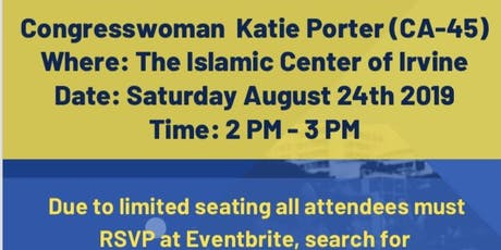 Town Hall with Congresswoman at ICOI tickets
