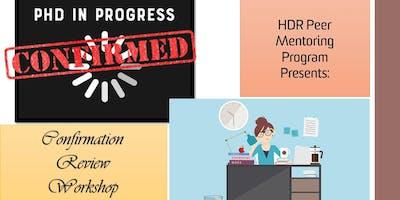 HDR Confirmation Review Workshop