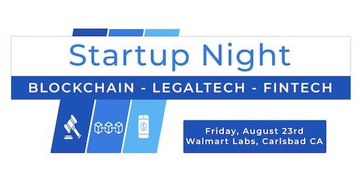 San Diego LegalTech / Blockchain / FinTech Startup Night