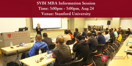 SVBI MBA Information Session at Stanford tickets