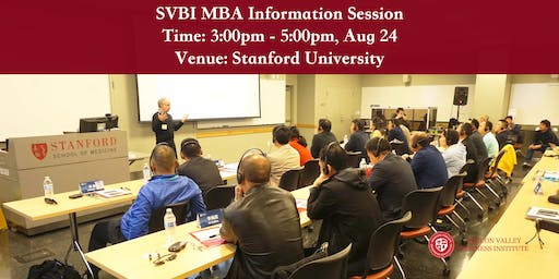 SVBI MBA Information Session at Stanford