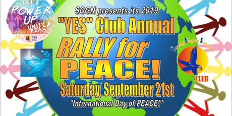 YES Club World Peace Day Dinner tickets