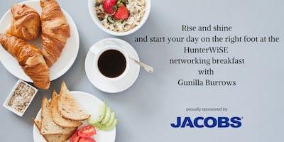 HunterwiSE Networking Breakfast sponsored by Jacobs