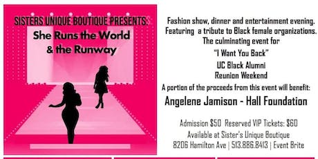 """Sister's Unique Boutique Presents """"  She Runs the World and The Runway"""" tickets"""