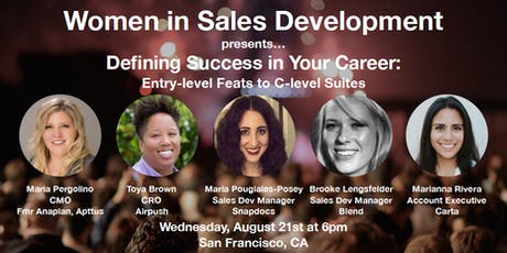 Women in Sales Development: Defining Success in Your Career - Entry Level Feats to C-Level Suites tickets