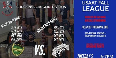 USA Axe Throwing Fall League | Black Forest Brewing VS Dueces Wild Brewery