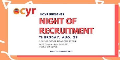 OCYR Night of Recruitment tickets