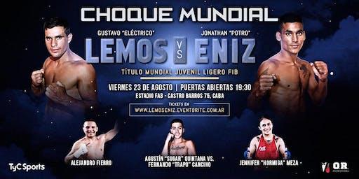 """""""CHOQUE MUNDIAL"""" - Título Juvenil FIB Peso Ligero - Viernes 23 de agosto"""