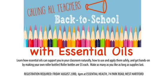Teachers and Essential Oils