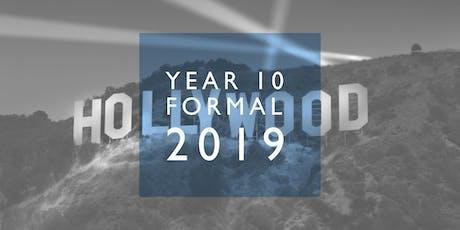 Year 10 Formal tickets