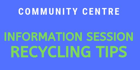 Recycling Tips Information Session tickets
