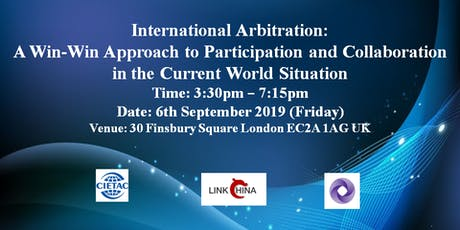 International Arbitration: A Win-Win Approach to Participation and Collaboration in the Current World Situation tickets