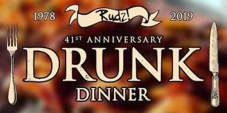 41st Anniversary Dinner at Rudyard's tickets
