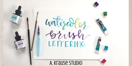 Beginner Level Watercolor Brush Lettering tickets