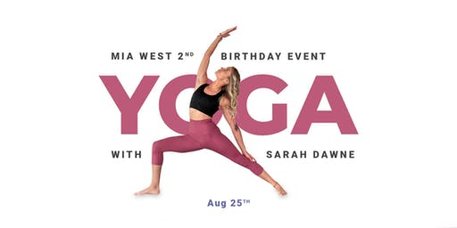 Yoga With Mia West Birthday Event