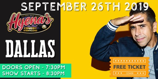 FREE TICKETS! Hyenas Comedy Club - 09/26 - Stand Up Comedy Show