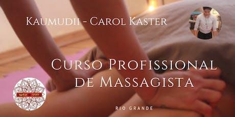 Curso Profissional de Massagista ingressos