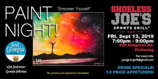 Empower Yourself Paint Night @Shoeless Joe's - Sept. 13th, 2019