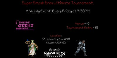 Super Smash Bros Ultimate Tournament every Friday at Clash at the Fortress!