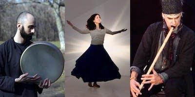 Crossing Boundaries Vol. 9: Musicians Tomchess & Dan Kurfirst & CRS Sufi Dance Community Showcase