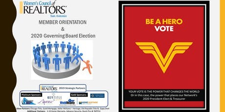 Elections & New Member Orientation tickets